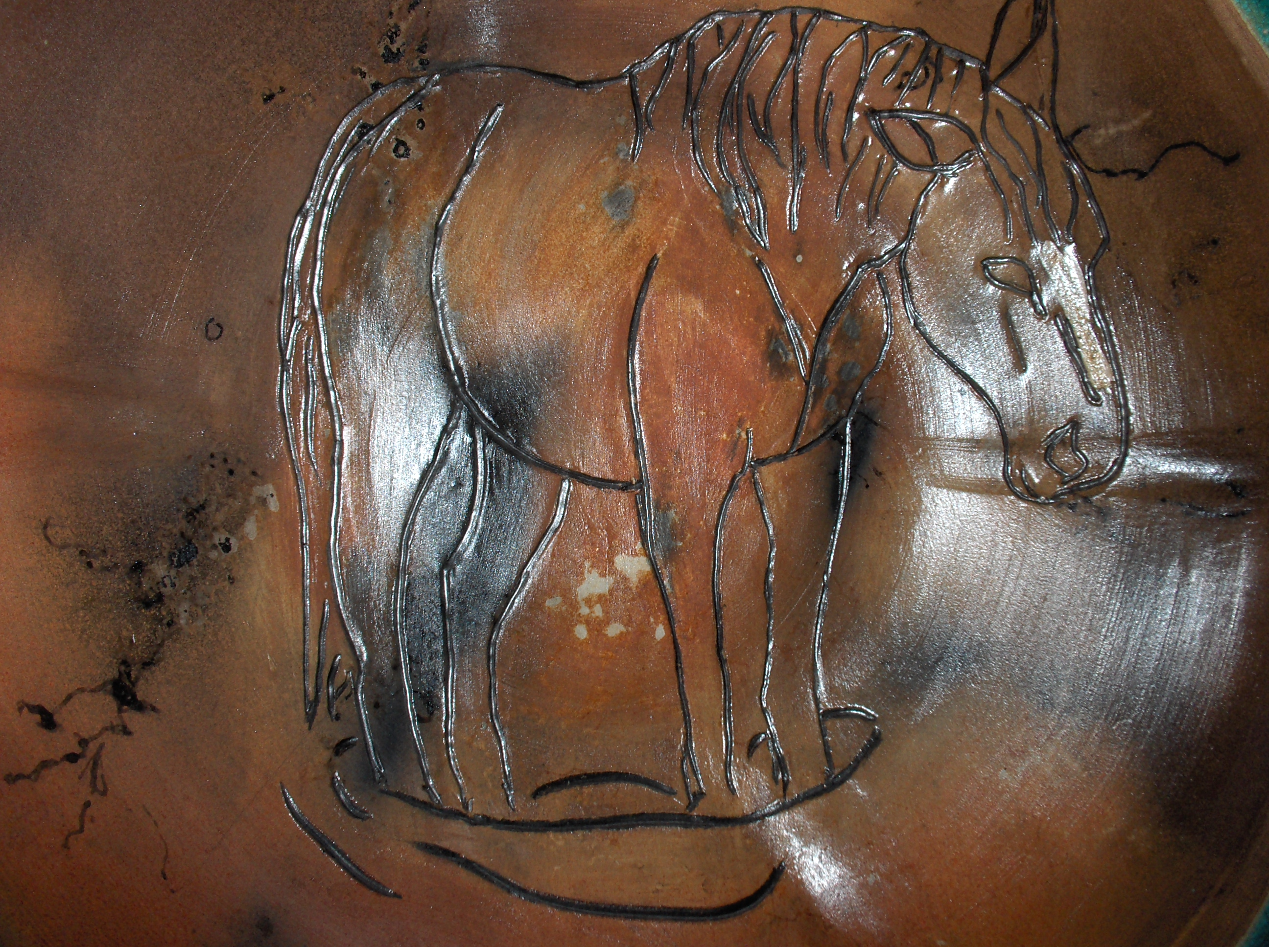horsehair bowl detail